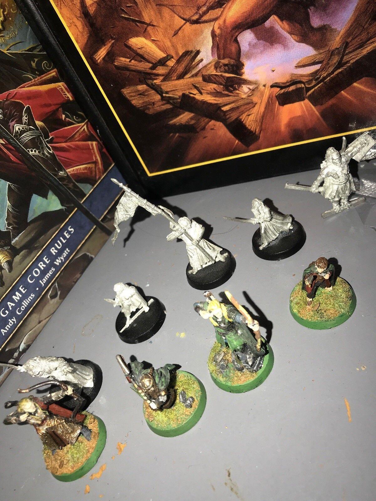 Juegos workshop señor de los Anillos héroes figuras de metal Paquete Frodo Legolas Etc