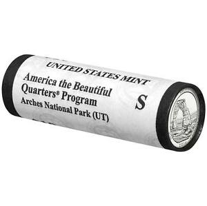 2014 S Arches National Park Quarter Roll America the Beautiful Unopened box