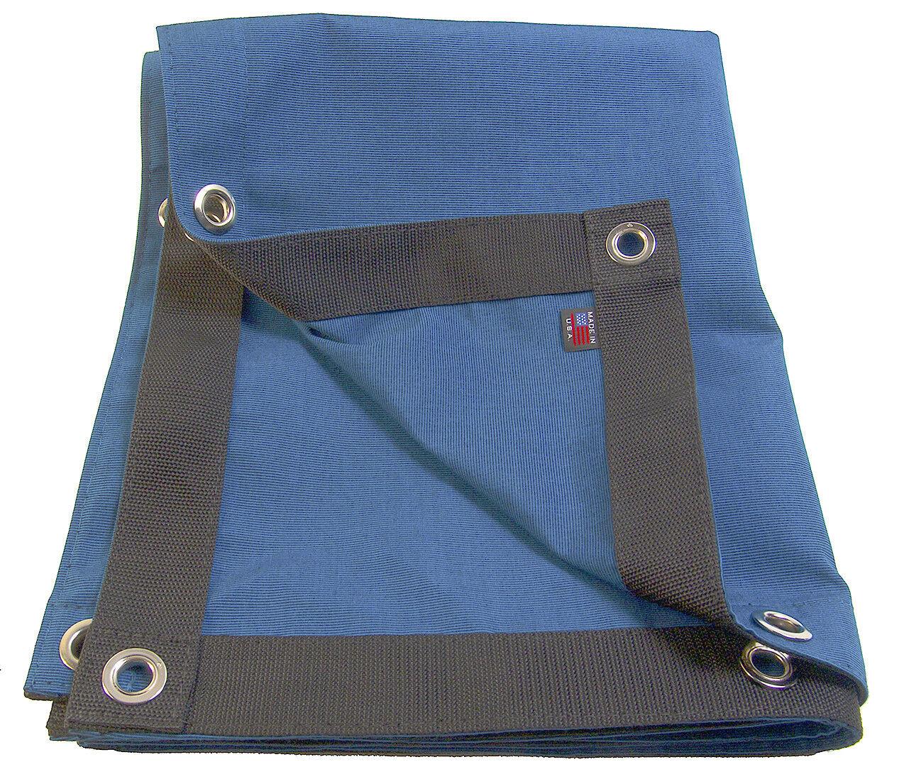 Sunbrella Tarp, Royal bluee Tweed w  Rolled Rim Spur Grommets, 9 16