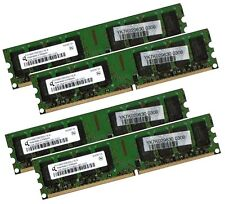 4x 2GB 8GB RAM PC Speicher DDR2 667 Mhz PC2-5300U f. Intel +AMD Low Density DIMM