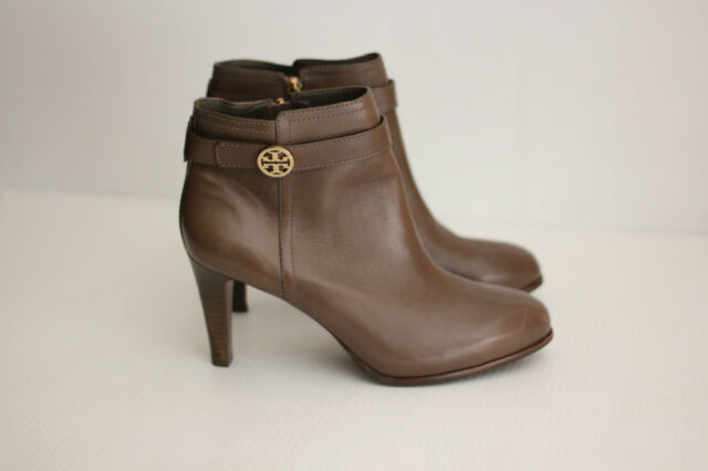 7e47d8f43b69 Tory Burch Bristol Bootie Leather Ankle Boot - Elephant Gray Taupe - 11M  (C28)