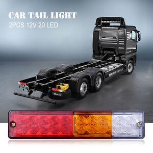 2X-20-LED-12V-remorque-camion-bus-van-stop-arriere-indicateur-feux-arriere-lampe