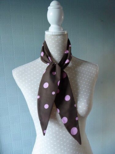 Brown spotted Hair Scarf Polka Dot Headband brown spotted hair pin up//wrap retro