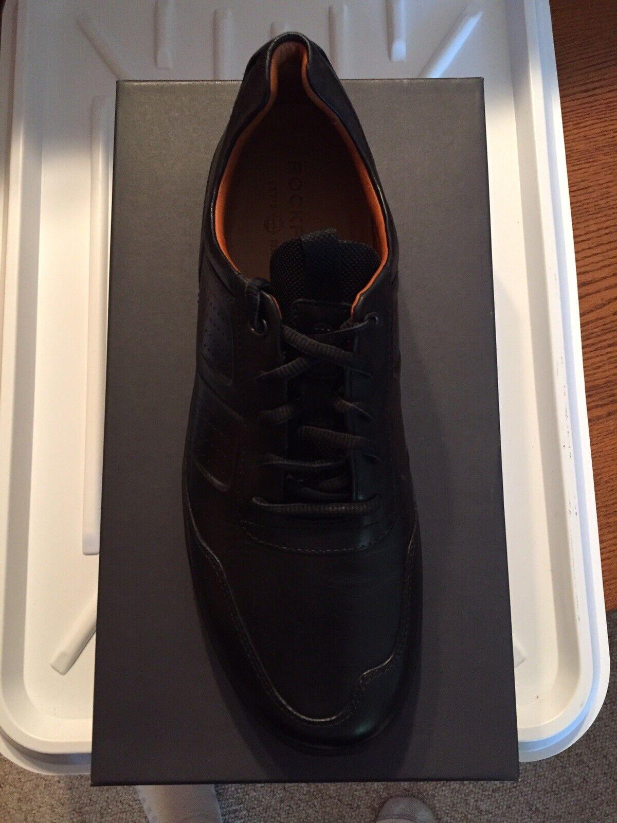 Rockport Lets walk vestido   ocio negro Oxford Code masculino 9,5 metros.