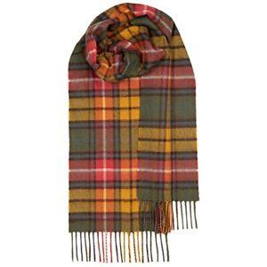 100% Lambswool tartan Scarf by Lochcarron   Buchanan Antique   Made in Scotland