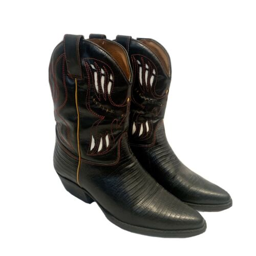 Lasso Boots Womens Size 5 Flings Cross Leather Cow