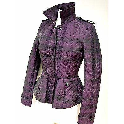 NEW !! BURBERRY LONDON QUILTED PEPLUM JACKET/TRENCH---MUST SEE ---UK 6 US 4