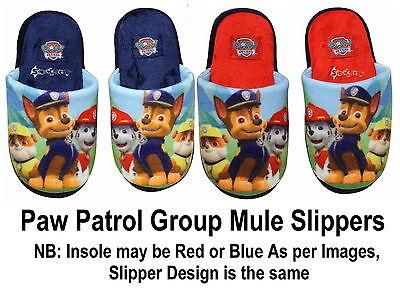 Childrens Paw Patrol Mula Pantuflas Tallas de Zapatos 6-13 Niños Niñas Nuevo Regalo