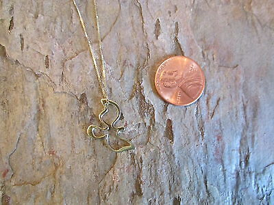 "14 K Yellow Gold Dove ""Holy Spirit"" Pendant Charm PEACE Abstract NEW Shiny"