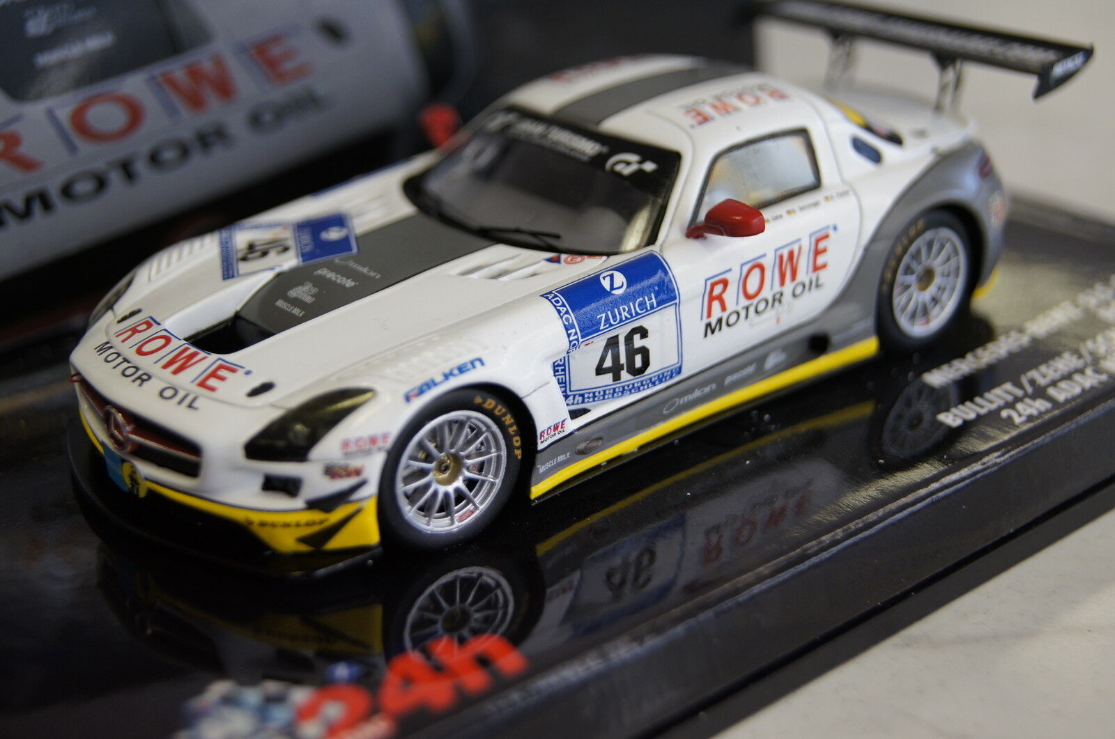 MERCEDES sls AMG gt3 24h Nurburgring 2011  46 1 43 MINICHAMPS NEUF & OVP