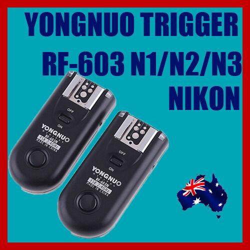 Yongnuo RF603II N3 Flash Trigger NIKON D90,D5000,D3100,D7000,D3000,D5100