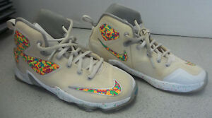 finest selection f4262 435df Details about NIKE Lebron James XIII EP13 Fruity Pebbles GS Size 3Y  846222-100 IN ORIGINAL BOX