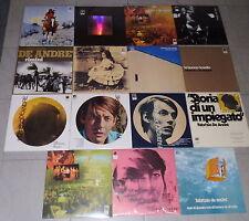 FABRIZIO DE ANDRE - collezione completa 15 LP vinili colorati