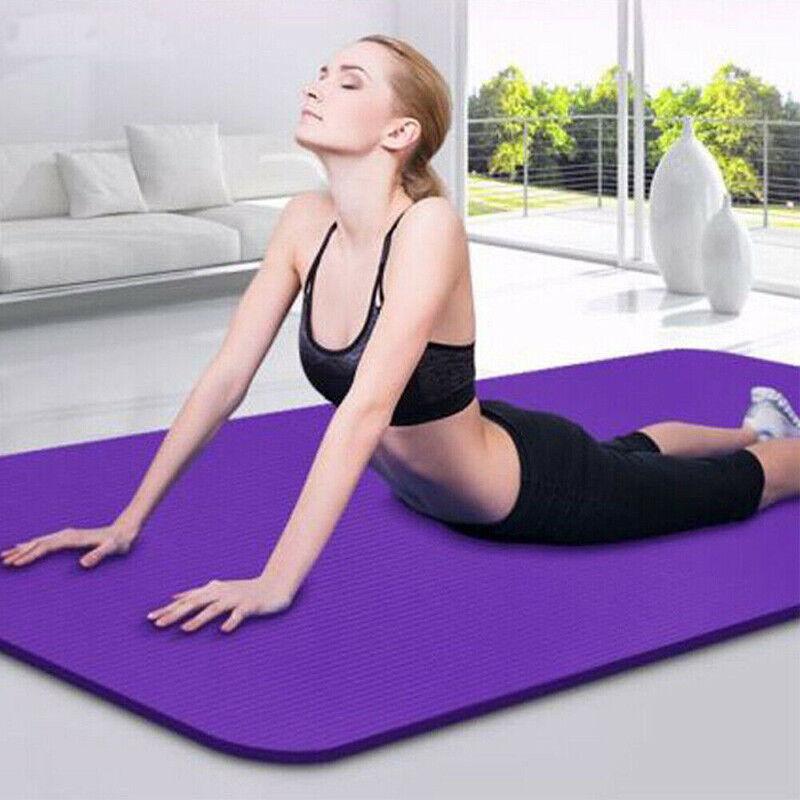 Non Slip Yoga Mat Thick Large Foam Exercise Gym Fitness Pila