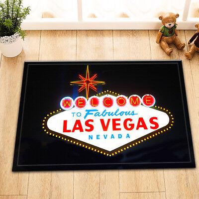 Las Vegas Sign Non-skid Door Bath Mat