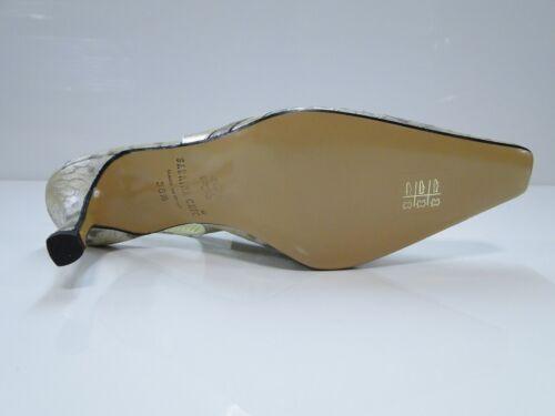 2408 G-Stripe Sabrina Chic Womens Gold Stripe Slingback Heel Shoes