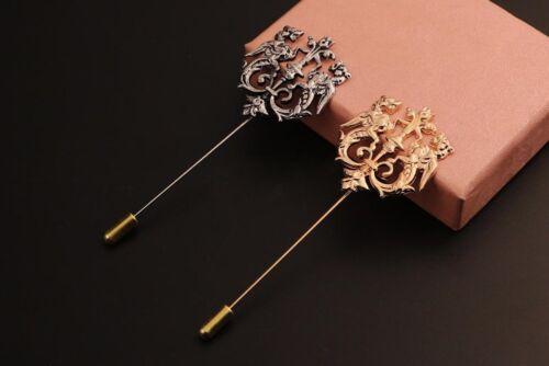 NEU Brosche Pin Anstecknade Herren gold silber rosegold Wappen Symbol  H32