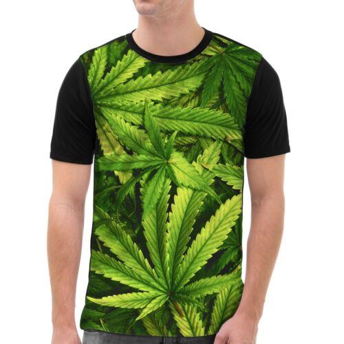 Hanf T-Shirt Herren All-over Druck cannabis marihuana haschisch reggae dope pot