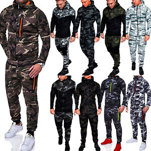 51da5d1020934 Image is loading Mens-Camouflage-Hoodie-Hooded-Jogger-Sports-Coat-Jacket-