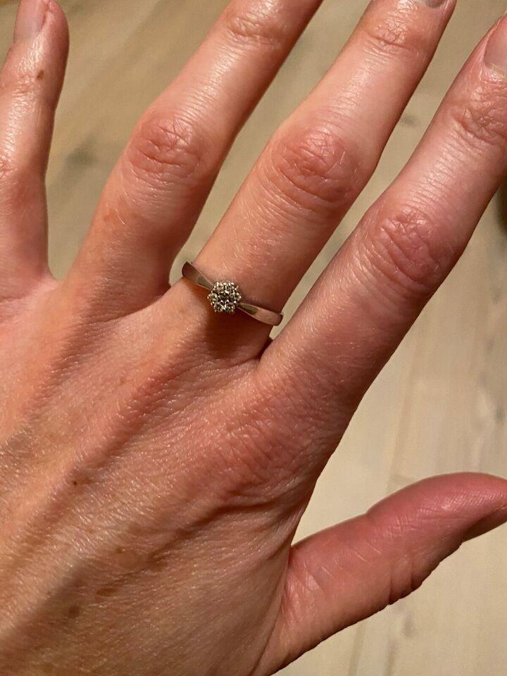 Ring, diamant, prinsesse