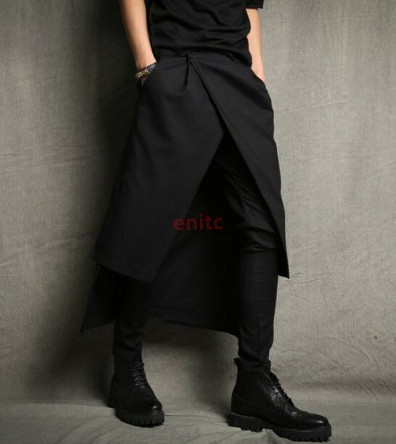 Mens Personalized Pencil Harem Pants Skirts Casual Punk Nightclub Loose Trousers
