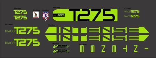 INTENSE TRACER T275 CUSTOM MADE FRAME DECAL SET lime green