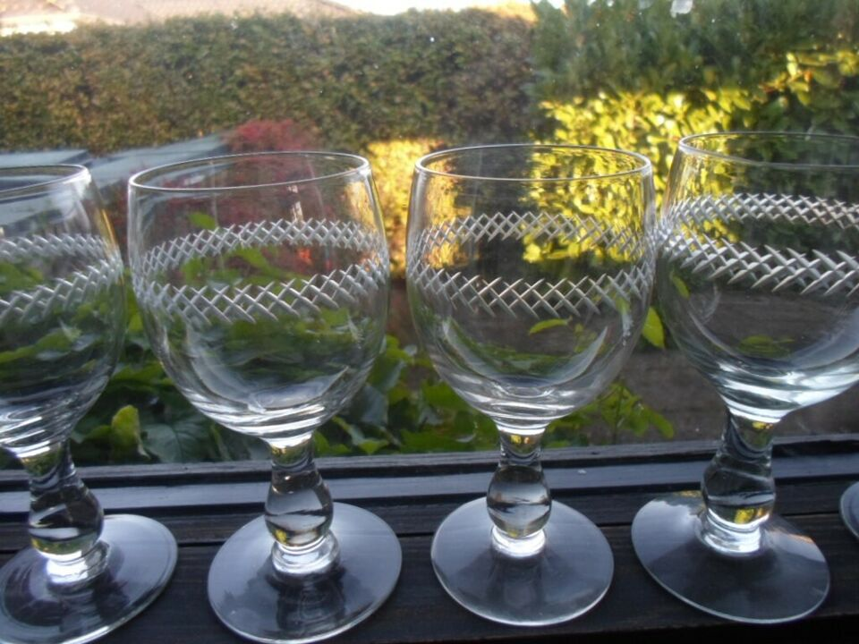 Glas, Vin-øl-porter --glas med krydsslibninger , Kastrup
