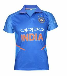 Details about India Cricket Team 2019 World Cup ODI T20 Jersey Tshirt Size  S M L XL