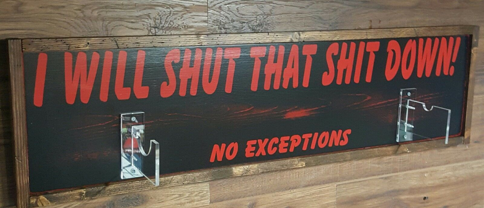 Negan  Lucille  bat Wall Plaque ~I WILL SHUT THAT SH*T DOWN~Made-Custom-For-You