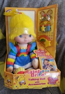 NOS-2004-Rainbow-Brite-Talking-Doll-W-Accessories-Hallmark-In-Box-RARE-G3