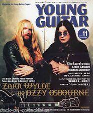 Young Guitar Magazine November 2001 Japan Ozzy Osbourne Zakk Wylde Angra