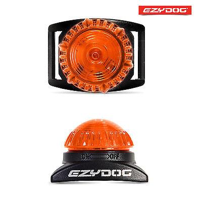 EzyDog Adventure Light Flashing Dog Safety LED Light - ORANGE