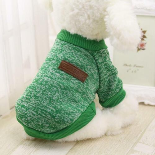 Pet Dog Sweater Warm Causal Coat Winter Jacket Vest Party Apparel For Puppy Cats
