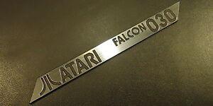Atari-FALCON-030-Logo-Sticker-Badge-brushed-aluminum-100-x-10-mm-288b