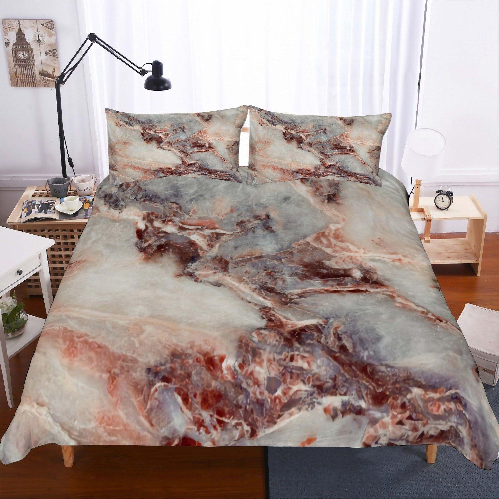 3D Marble Pattern Bedding Set Duvet Cover Comforter Cover Pillow Case Hkm15