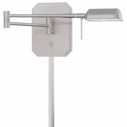 Brushed Nickel George Kovacs P4348-084 1-Light LED Task Swing Arm Wall Sconce