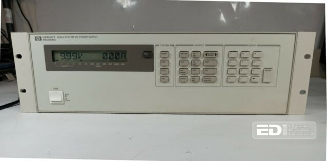 HP Agilent 6624A System DC Power Supply 4x 40W Channels 120V In 7/20/50VDC [Ori]