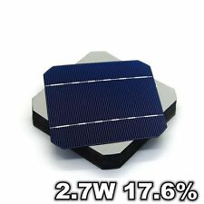 50 Pcs Grade A 125MM Mono Solar Cells 17.6% 2.7W 5x5 For DIY Solar Panel