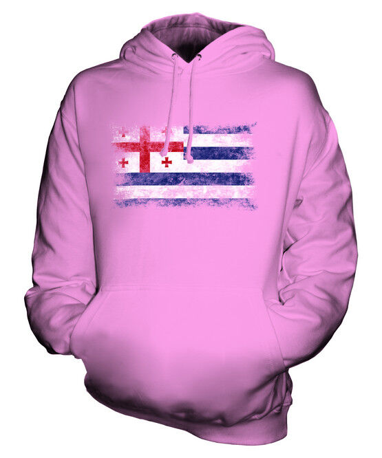 AJARIA DISTRESSED FLAG UNISEX HOODIE TOP FOOTBALL GIFT  CLOTHING JERSEY