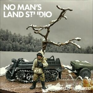 PRO PAINTED 28mm BOLT ACTION/Rubicon KETTENKRAD scena invernale DIORAMA ww2