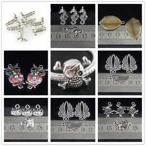 New-Fashion-Charm-Tibetan-Silver-Beads-For-Bracelet-Earrings-Necklace-10Pcs