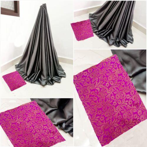 Sartin Silk Sari Traditional Bollywood Indian Wear Party Wear Plain Saree SN