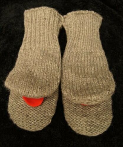 DONKEY MITTENS knit ADULT Flc LINED mule ANIMAL gift costume HAT SOLD SEPARATE