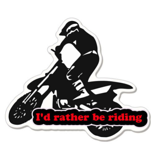 """I/'d Rather Be Riding Bike Motorcycle car bumper sticker decal 5/"""" x 3/"""""""