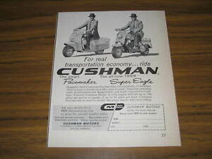 1959 Vintage Ad Cushman Pacemaker And Super Eagle Motor Scooters Ebay