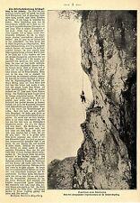 Eine Adlerhorstplünderung bei Engelberg in der Schweiz c.1903