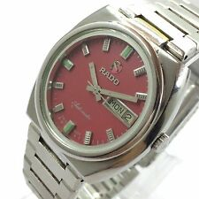 VINTAGE RADO AUTOMATIC DAY-DATE 17-J SWISS MADE WRIST WATCH GS-2747