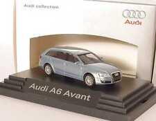 1:87 Audi A6 Avant C6 aeroblau blau silber - Dealer-Edition - Busch 5010406232