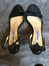 Jimmy Choo Black Strappy Diamanté Ladies Sandals 39 6 Dustbag shoes