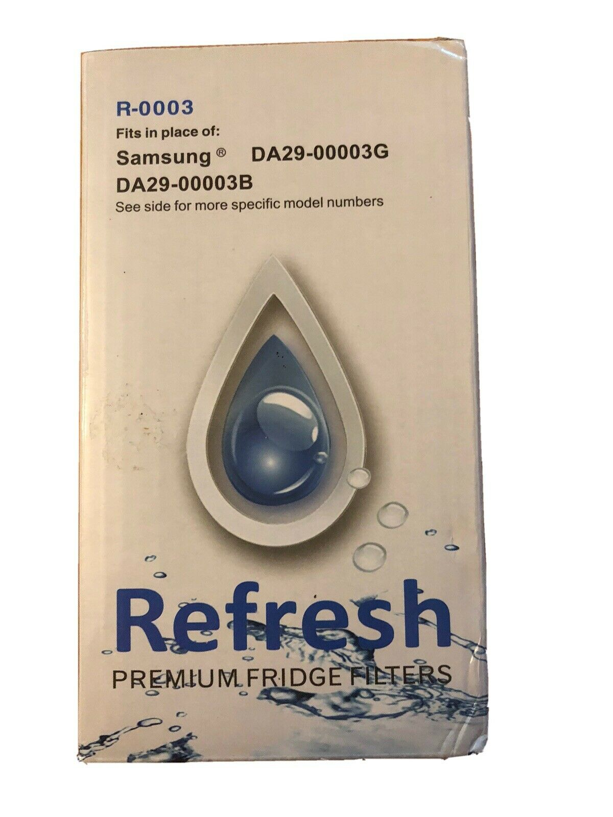 NEW Refresh Replacement Water Filter - Fits Samsung Refresh R-0003 Refrigerators